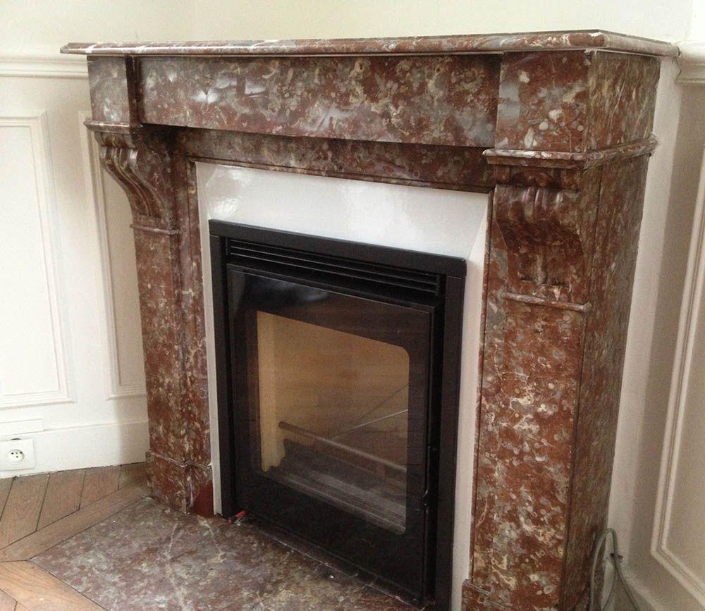 Turbo insert cheminée marbre - Recherche Google | Décoration | Pinterest  QH35