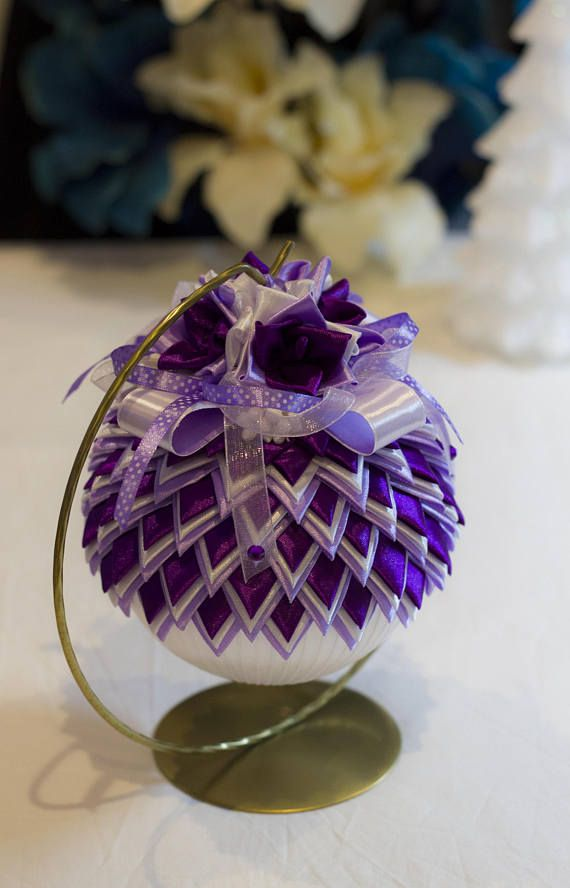 Purple Balls For Decoration Handmade Christmas Ball Decoration This Gorgeous Handmade Quilted