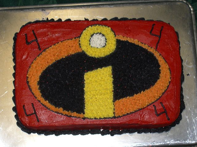 The Incredibles Cake Incredibles Birthday Party Boy Birthday