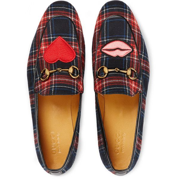 Gucci Jordaan Tartan Formal Loafer (735 CHF) ❤ liked on Polyvore featuring  men's fashion