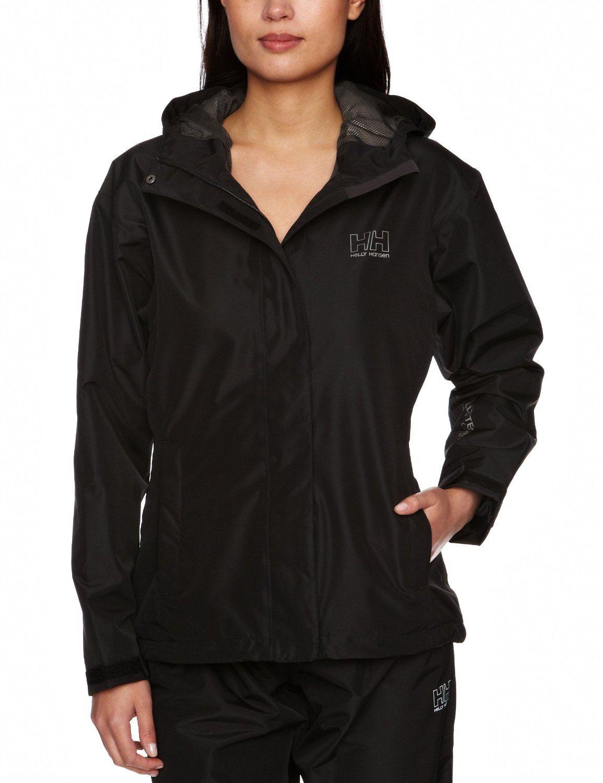 Helly Hansen Womens Seven J Jacket Black Small Coats Jackets Women Rain Jacket Jackets For Women