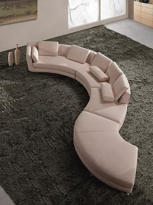 Curved White Leather Contemporary Sectional Sofa At Gowfb Ca