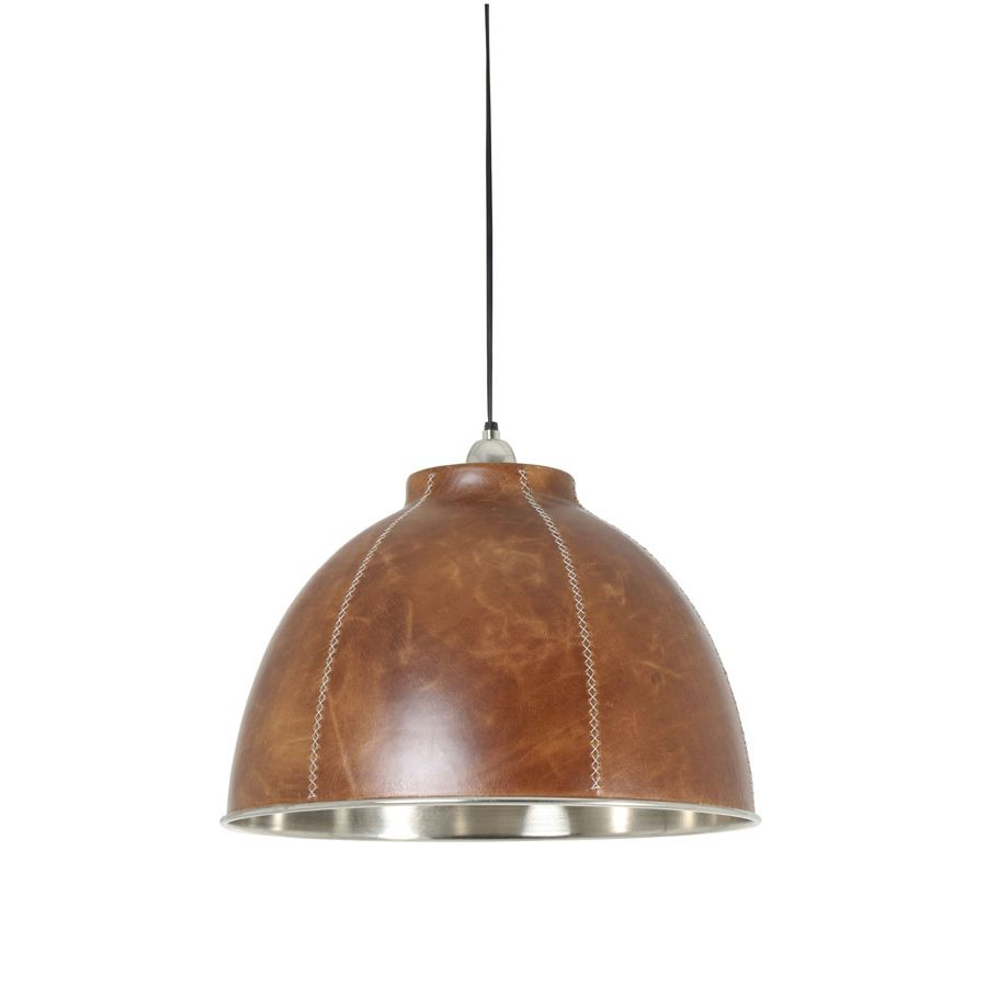 kevin hanging lamp saddle brown leather large décor home