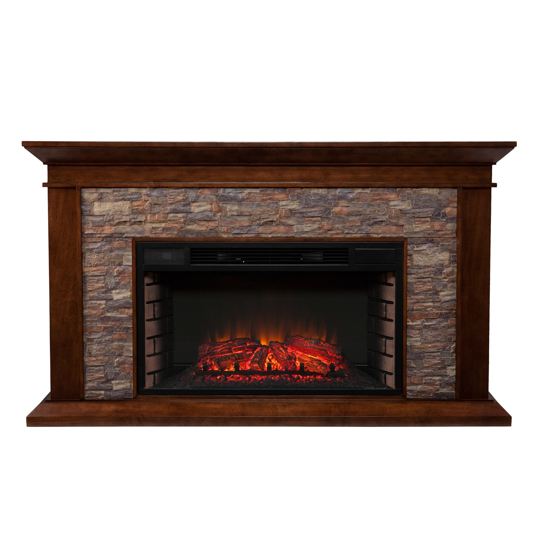 Camilla Simulated Electric Fireplace Stone Electric Fireplace