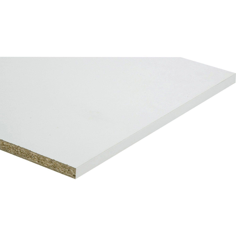 Tablette Mélaminé Super Blanc Spaceo L250 X L50 Cm X Ep