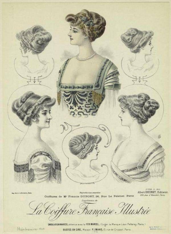 De La Revista La Peluqueria Francesa Ilustrada Paris 1908 1914