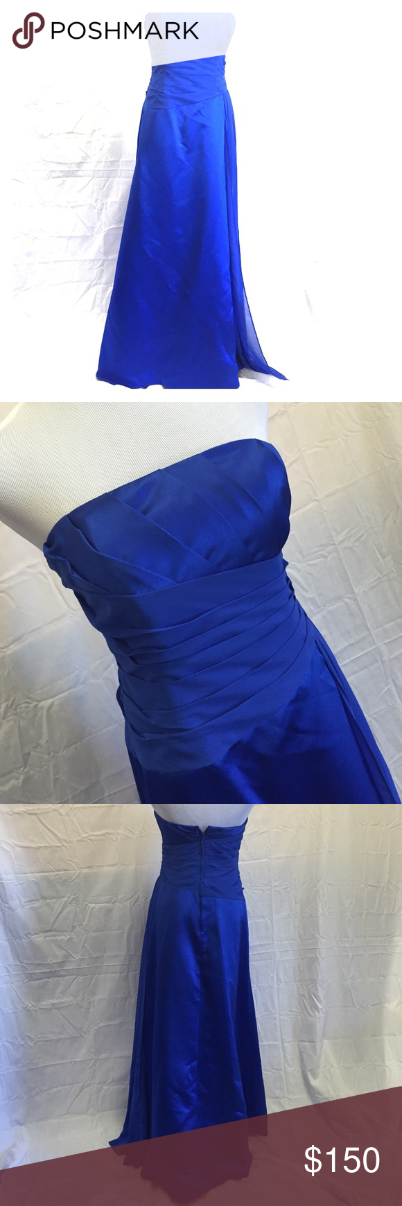 Davidus bridal bridesmaid dress size royal blue davidus bridal