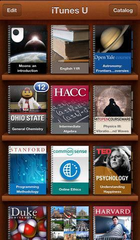 The iTunes U app gives you access to complete courses from