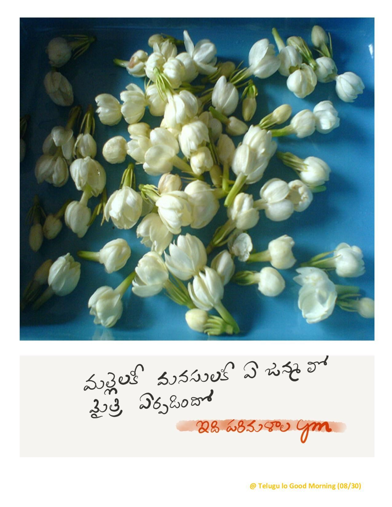 A Casual Attempt To Say Good Morning The Telugu Way Telugu Lo Good