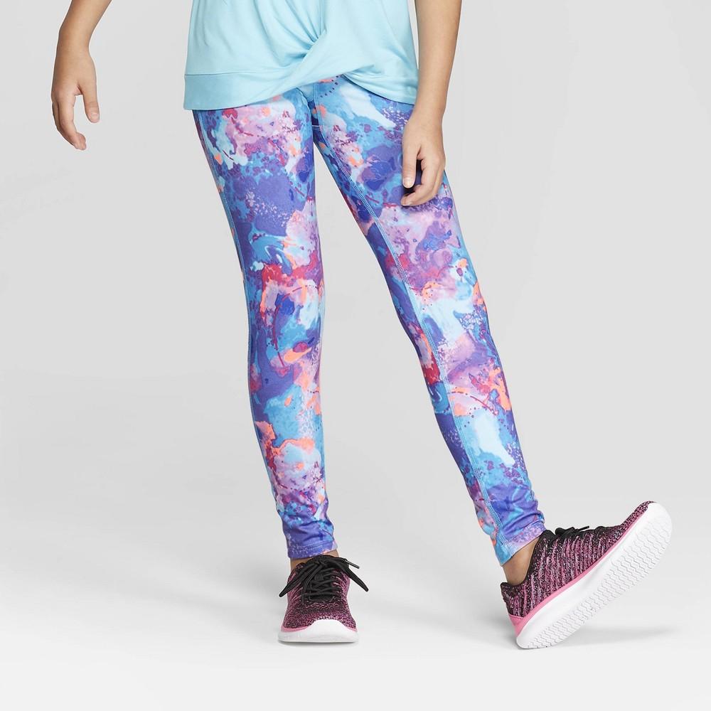 3a307e817a37 Girls  Printed Performance Leggings - C9 Champion Purple Blue XS ...