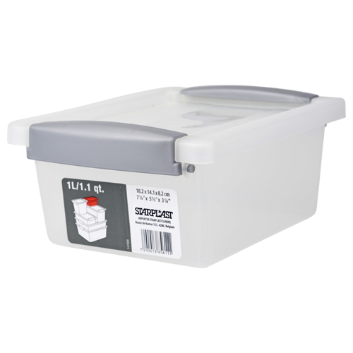 Starplast opbergbox klemdeksel 1l koopwaren pinterest for Action opbergbox