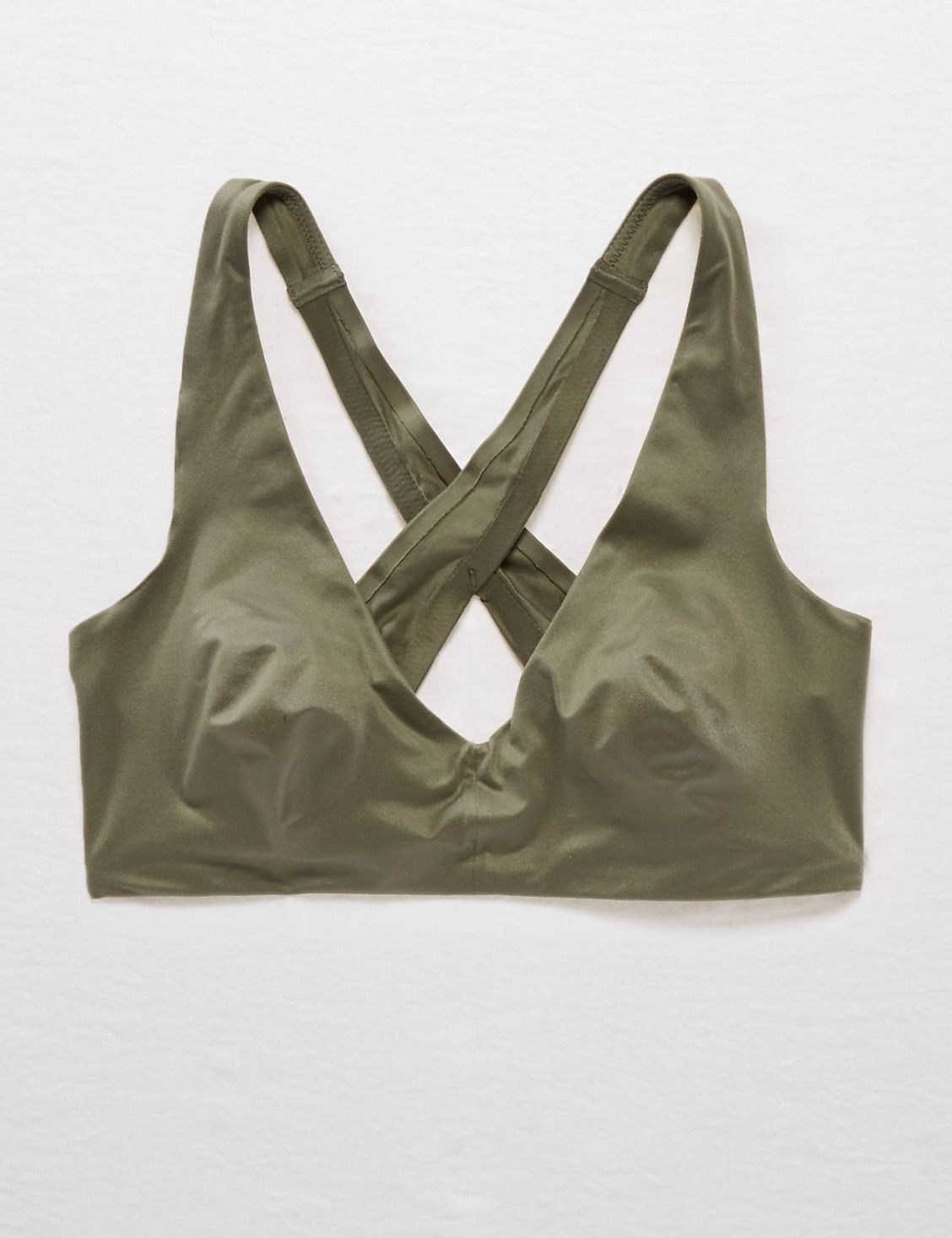Aerie Sunnie Bralette, Camo Green | Aerie for American Eagle