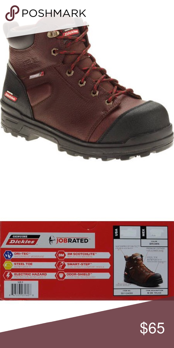 6066c6708c6 Dickies Mens Steel toe boots Size Gently used. Worn maybe 3 times in ...