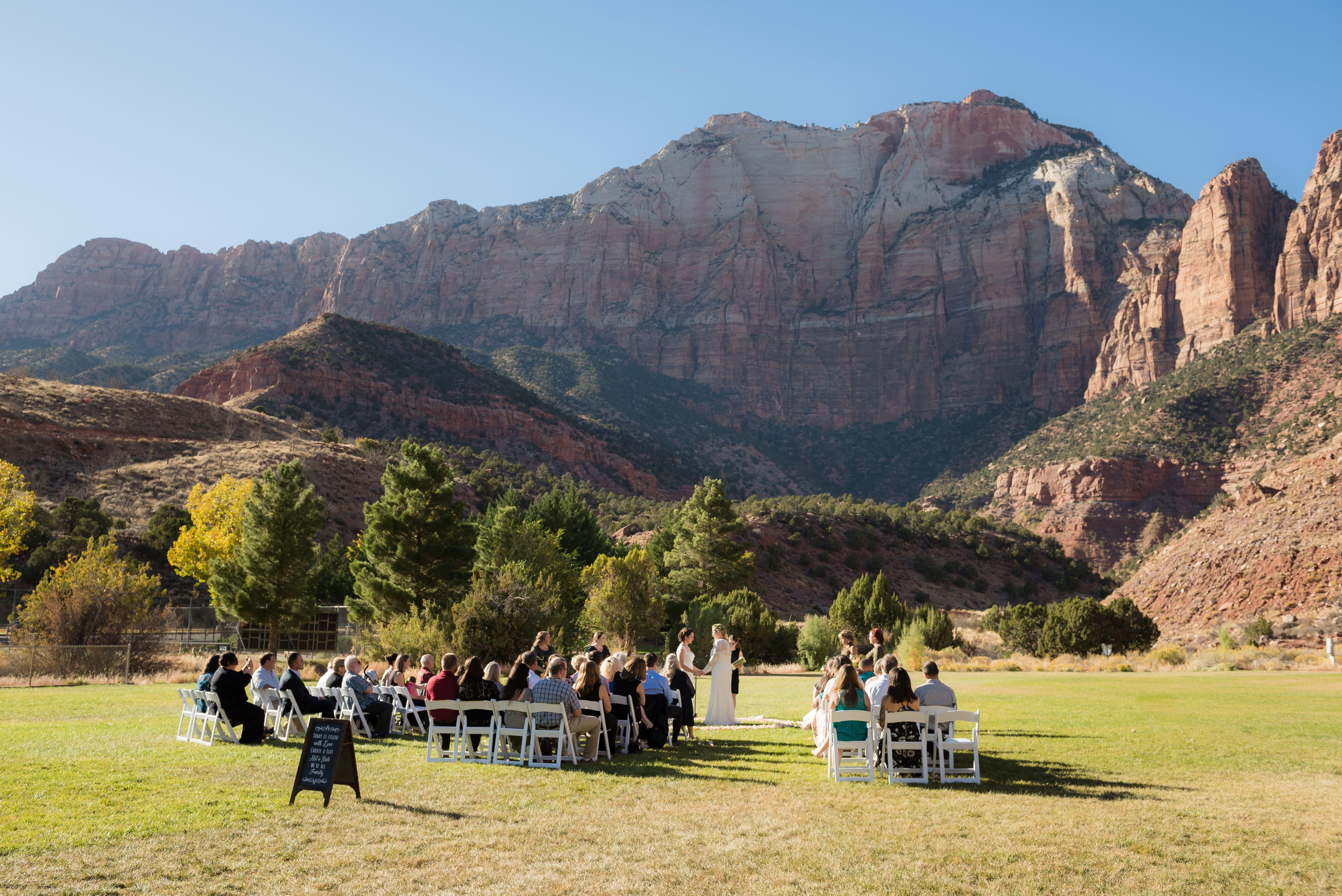 Zion National Park Wedding Venue, Springdale Ball Park ...
