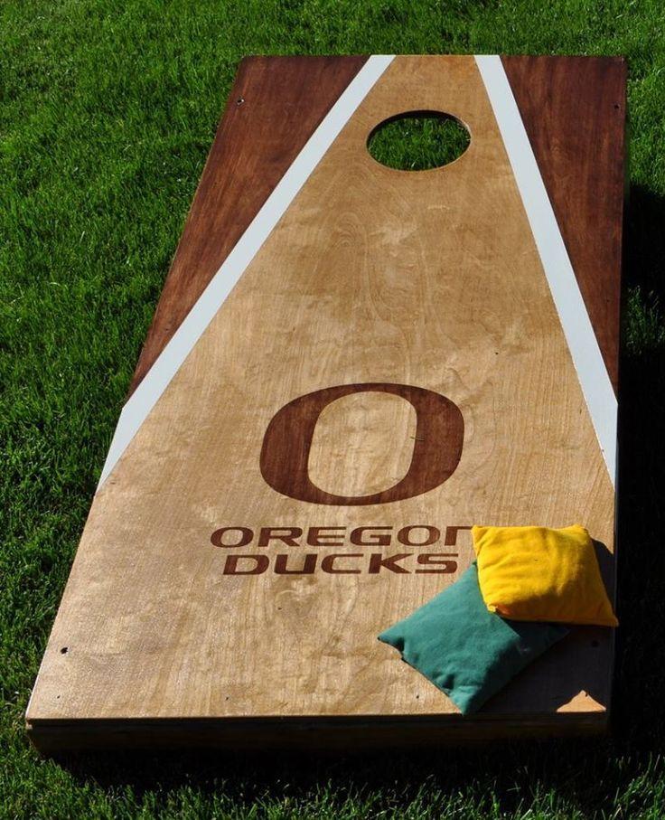 oregon cornhole board designs