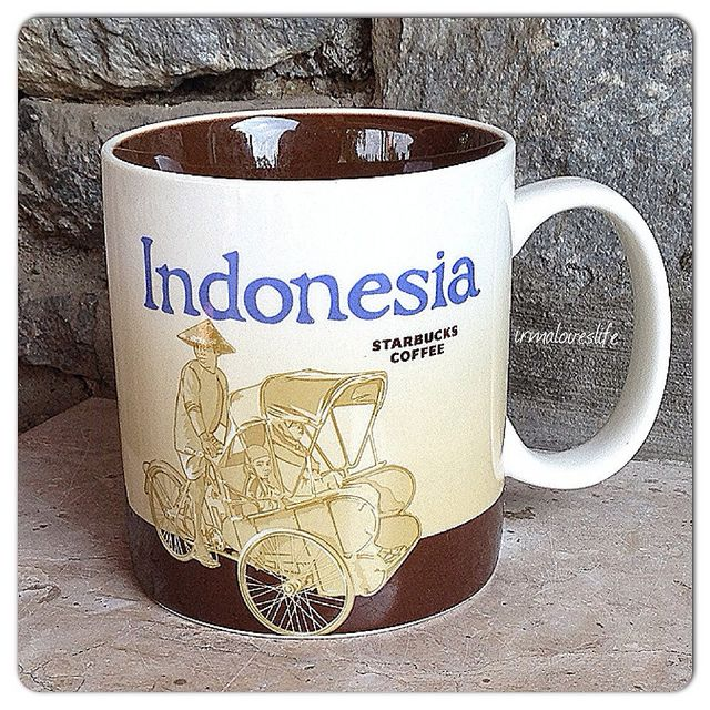 Indonesia Starbucks city mugs, Starbucks mugs, Starbucks