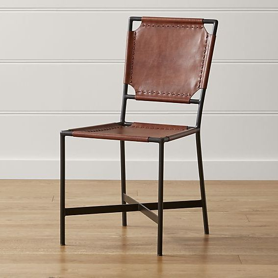 Laredo Brown Leather Dining Chair Reviews Crate And Barrel Black Leather Dining Chairs Dining Chairs Leather Dining Chairs