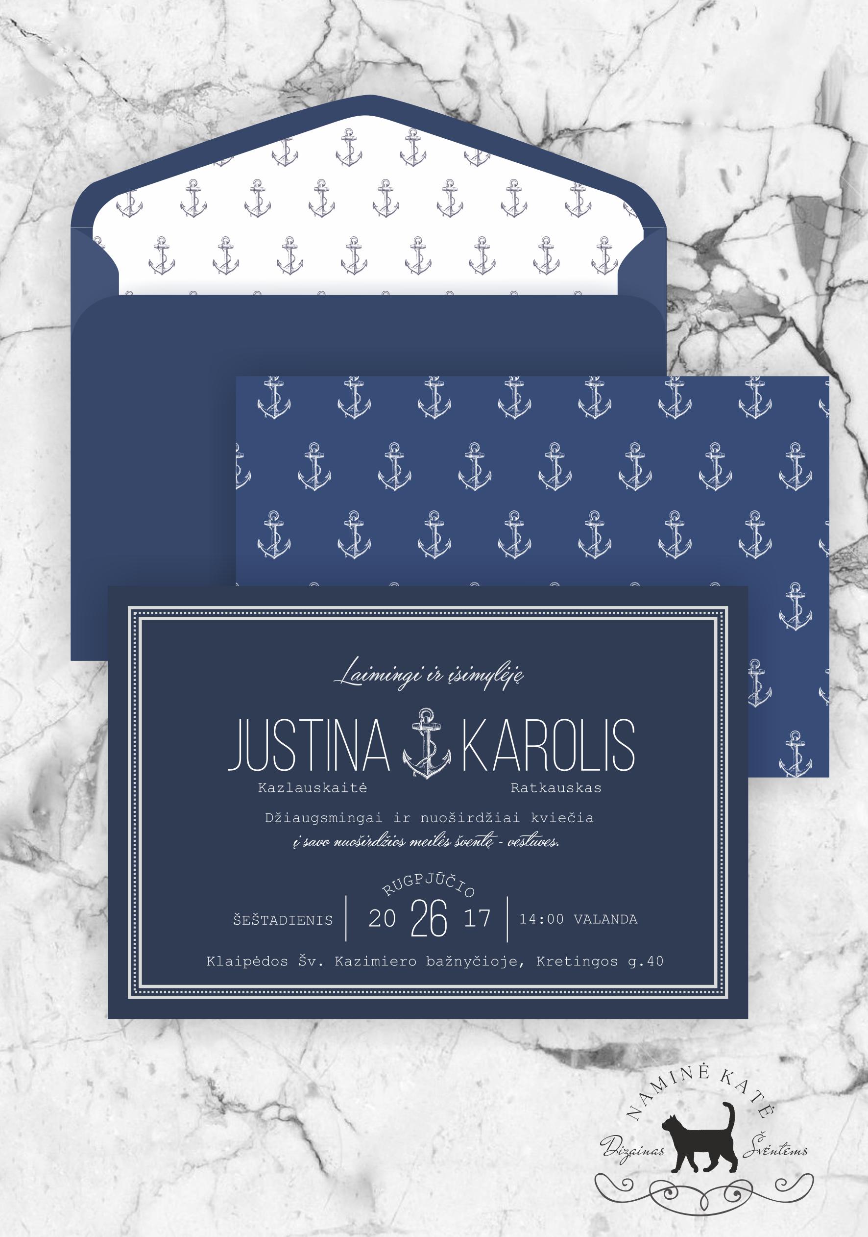 Marinistic Style Invitation Solid, Romantic Invitation For Weddings On The