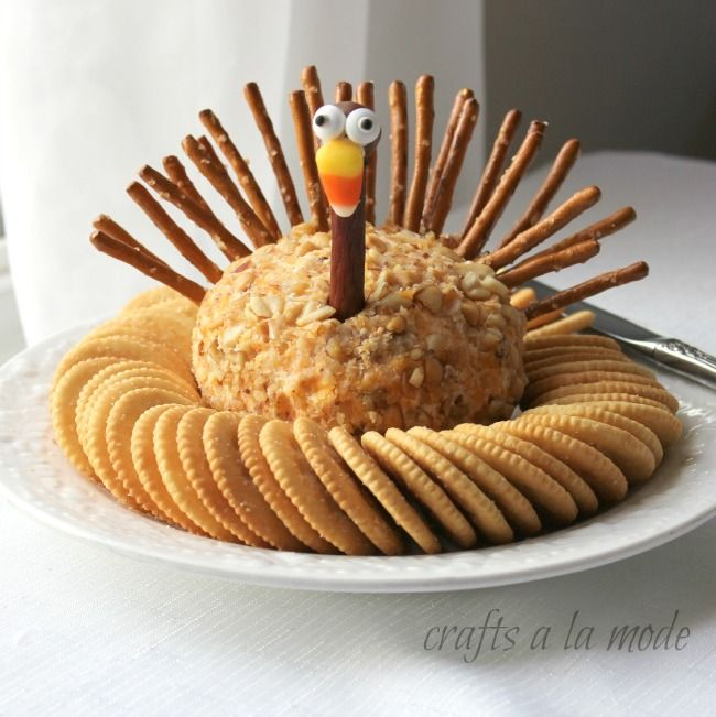 Thanksgiving turkey cheese ball crafts a la mode for What to serve with thanksgiving turkey