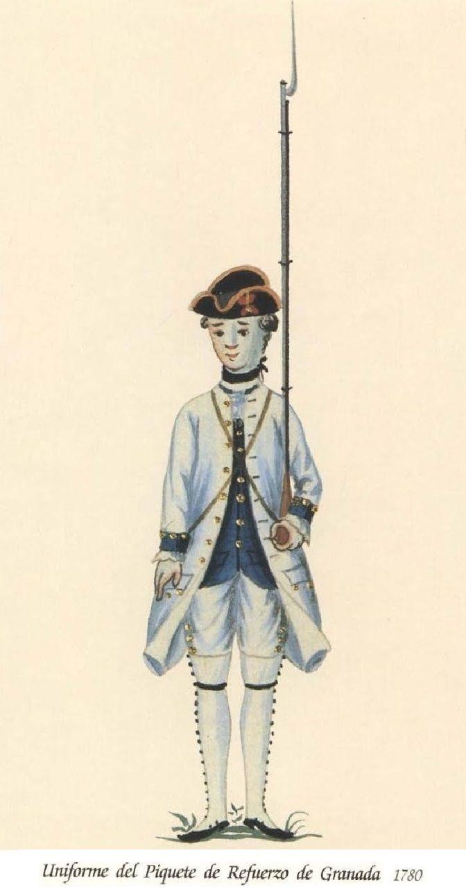 Piquetes del Refuerzo de Granada 1780