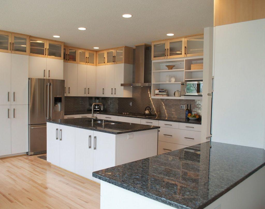 White Kitchen Cabinets With Dark Countertops Antique White