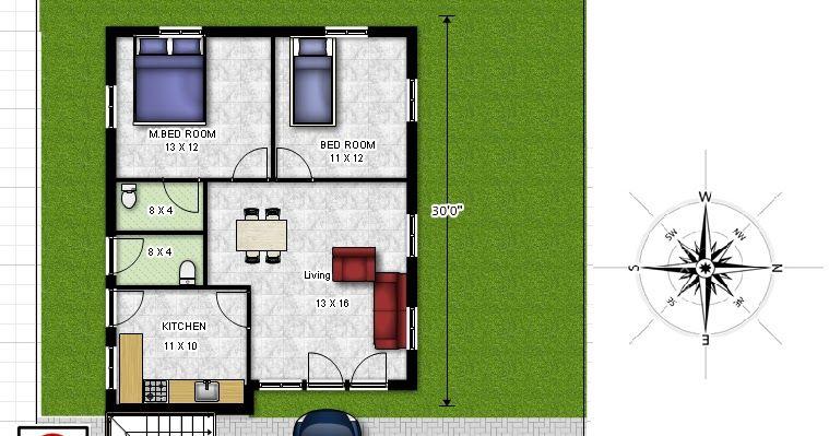 East Facing 2 Bedroom House Plans As Per Vastu Bharat Home 2 Bedroom Floor Plan 800sq Ft East F 2 Bedroom House Plans Bedroom House Plans 2 Bedroom Floor Plans