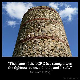 Imagem inspirada por Provérbios 18:10
