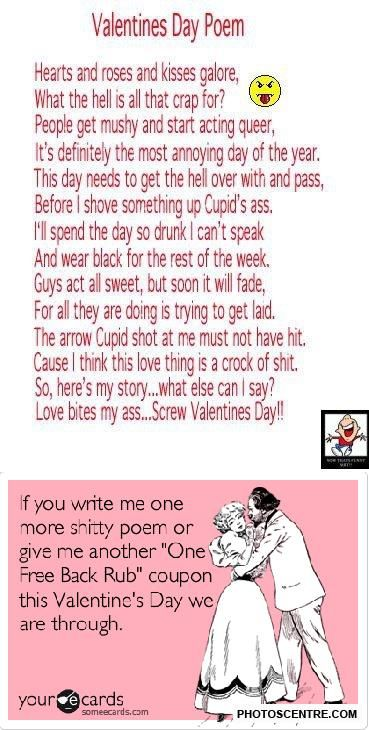 funny valentines day poems - 9 photos! | quotes | pinterest, Ideas