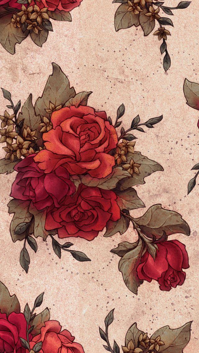 Vintage Rose iPhone Wallpaper Lock Screen