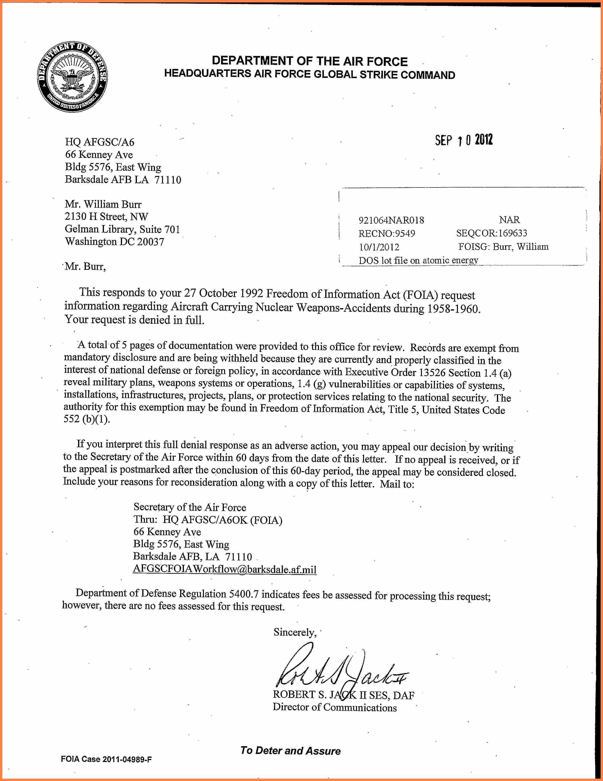 Air Force Memorandum Template Elegant 10 Department Of The