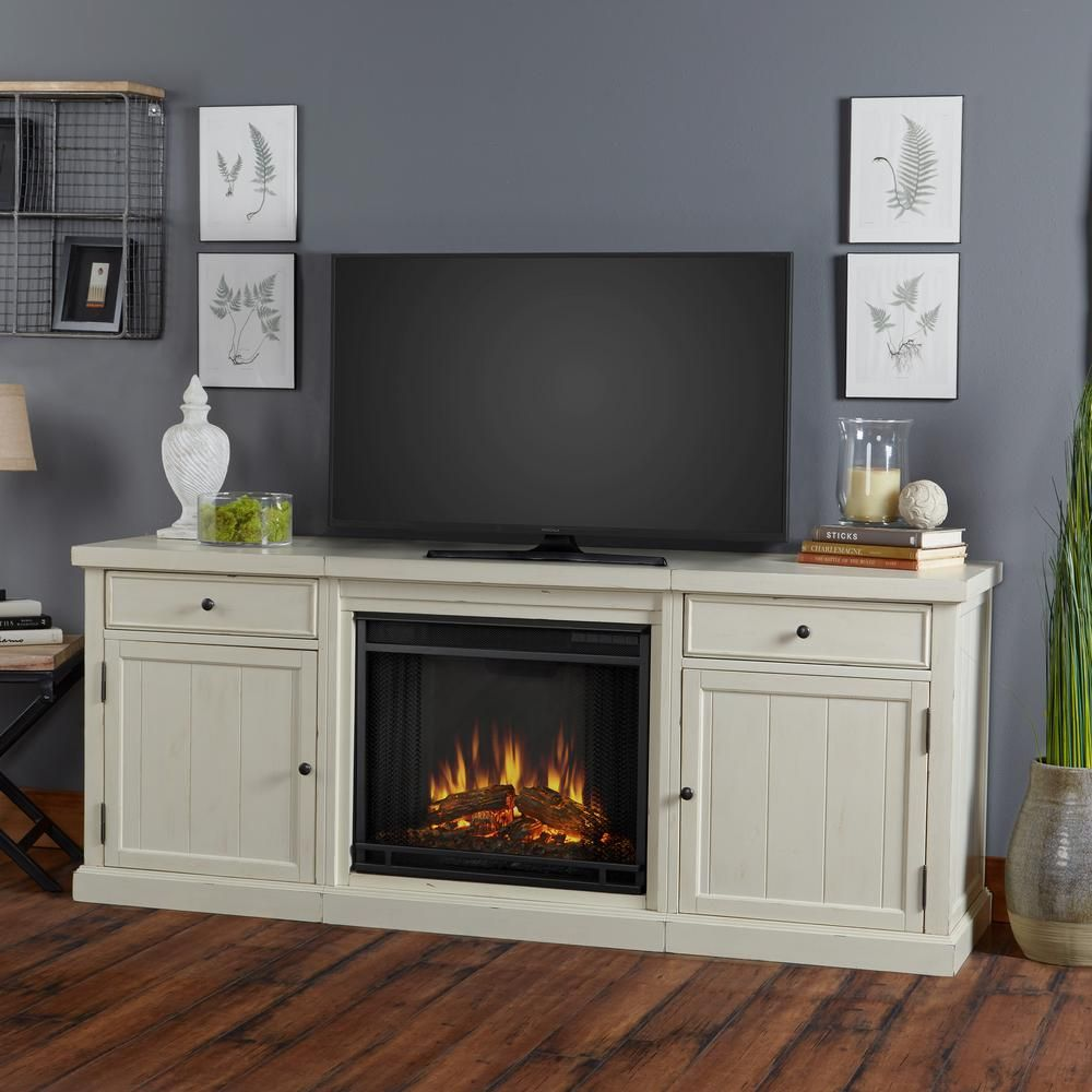 Cassidy 69 In. Entertainment Center Electric Fireplace In