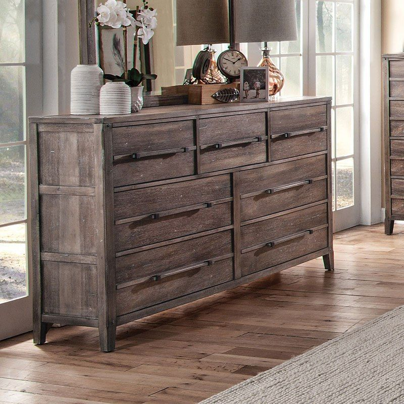 American Family Furniture Aurora Co: Aurora Dresser (Weathered Grey)