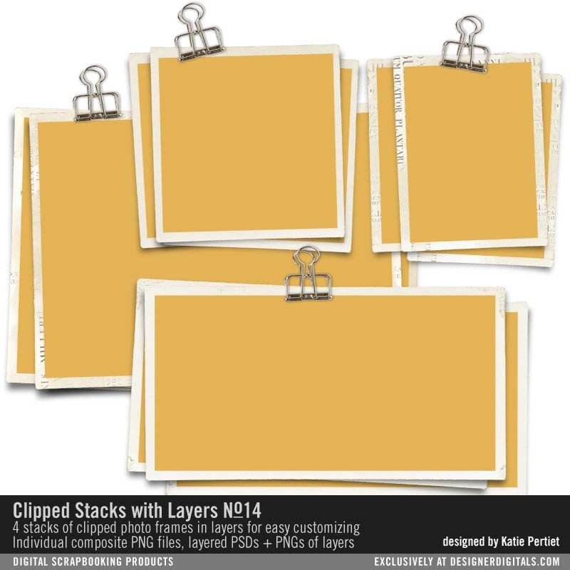 Clipped Stacks with Layers No. 14 wire frame binder clips hold toge ...
