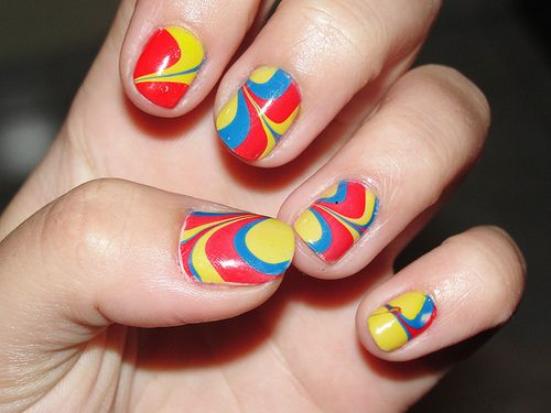 Colors for a water marbling
