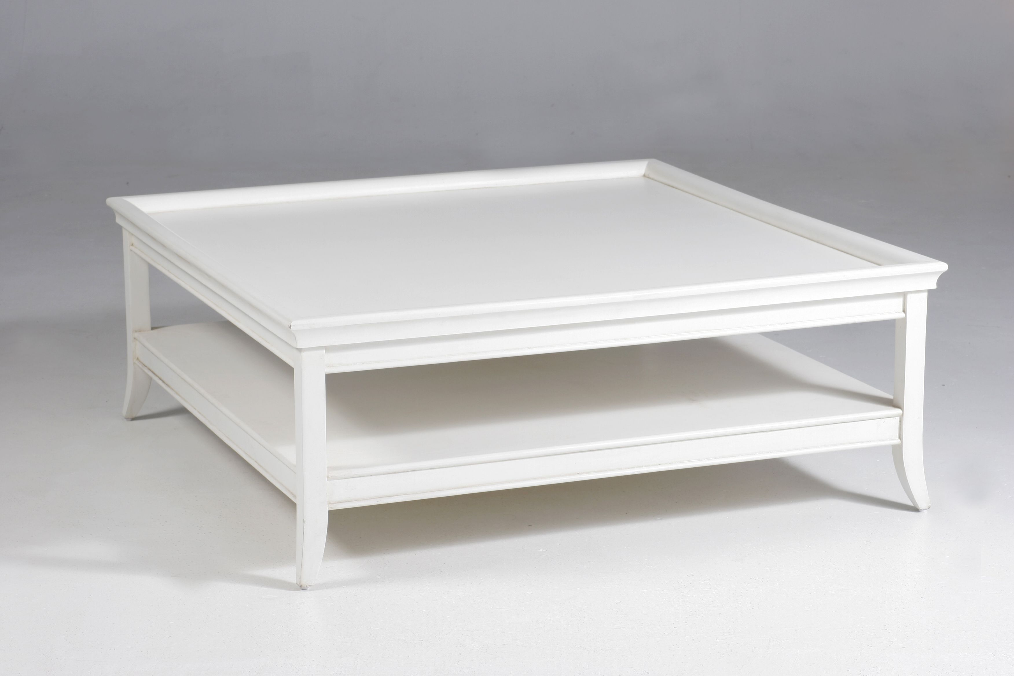 Oslo Square Coffee Table White Hamptons Style