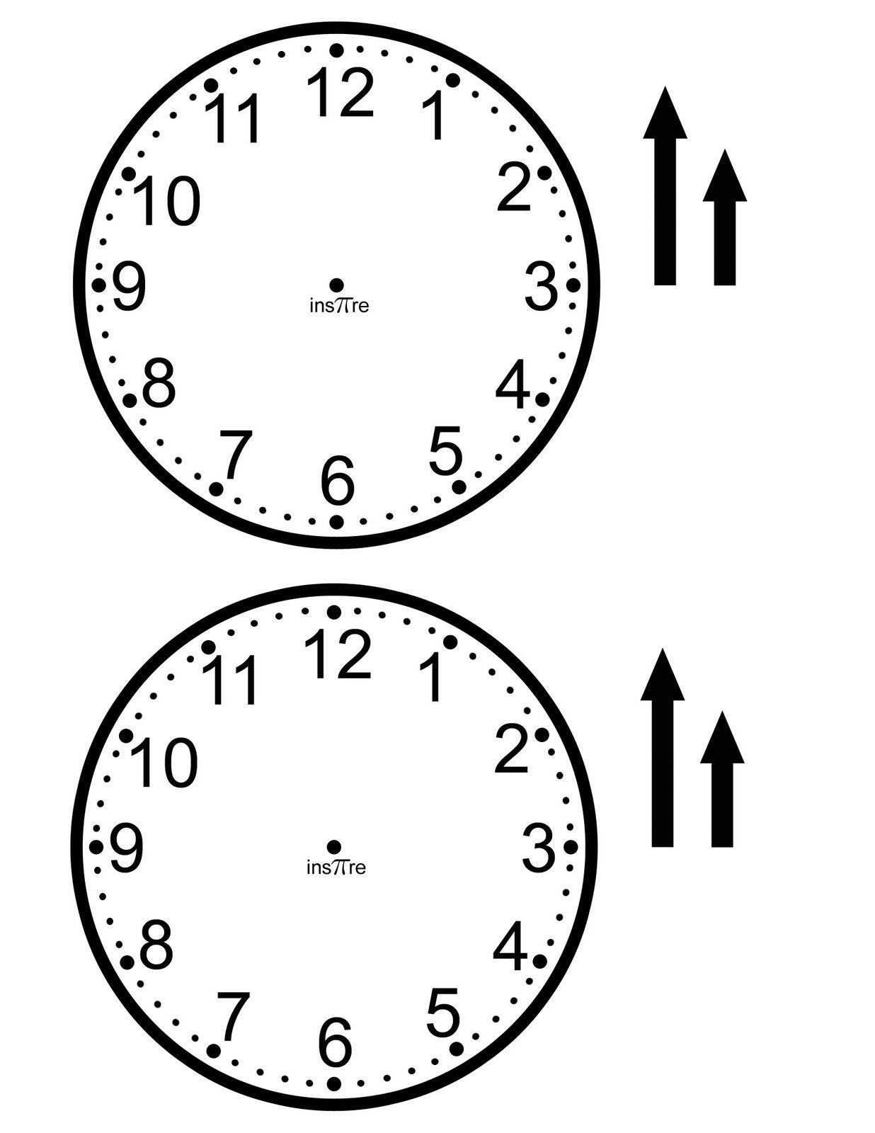Clock Template  School  Math  Time    Clocks Math