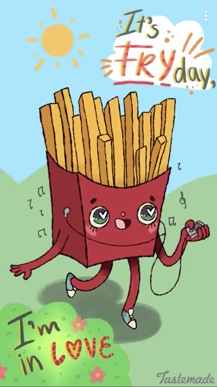 Fry day! (With images) Punny puns, Funny food puns