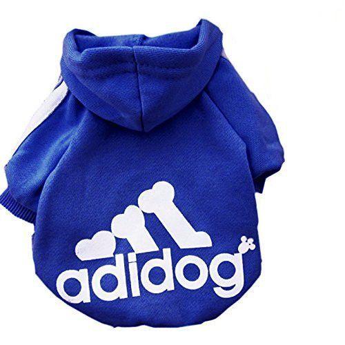 New Soft Cotton Cat Dog Clothes Pet Hoodie Coat Fashion Adidog Costume Warm Sweater Clothing For Small Dogs Sweater Puppy Dog Clothes Cat Clothes