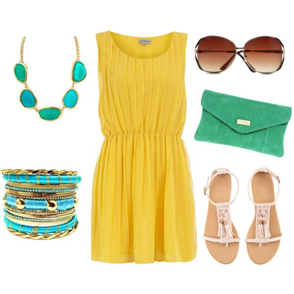 Yellow and Turquoise Summer!