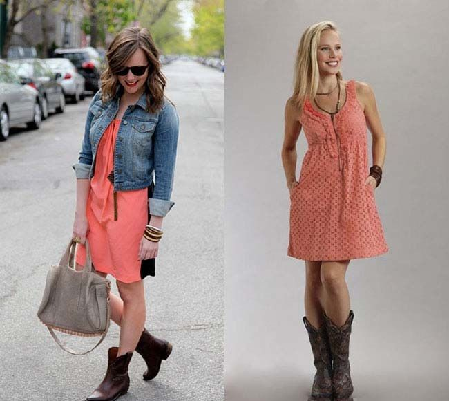 Perfect Stylish Western Wear Dresses To Wear With Cowboy Boots ...