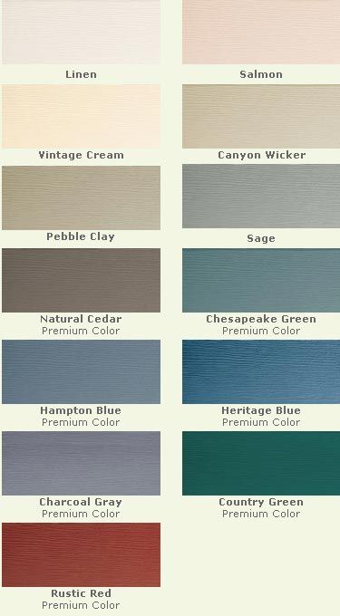 Vinyl Siding Palette Love The Pebble Clay Vinyl Siding Colors