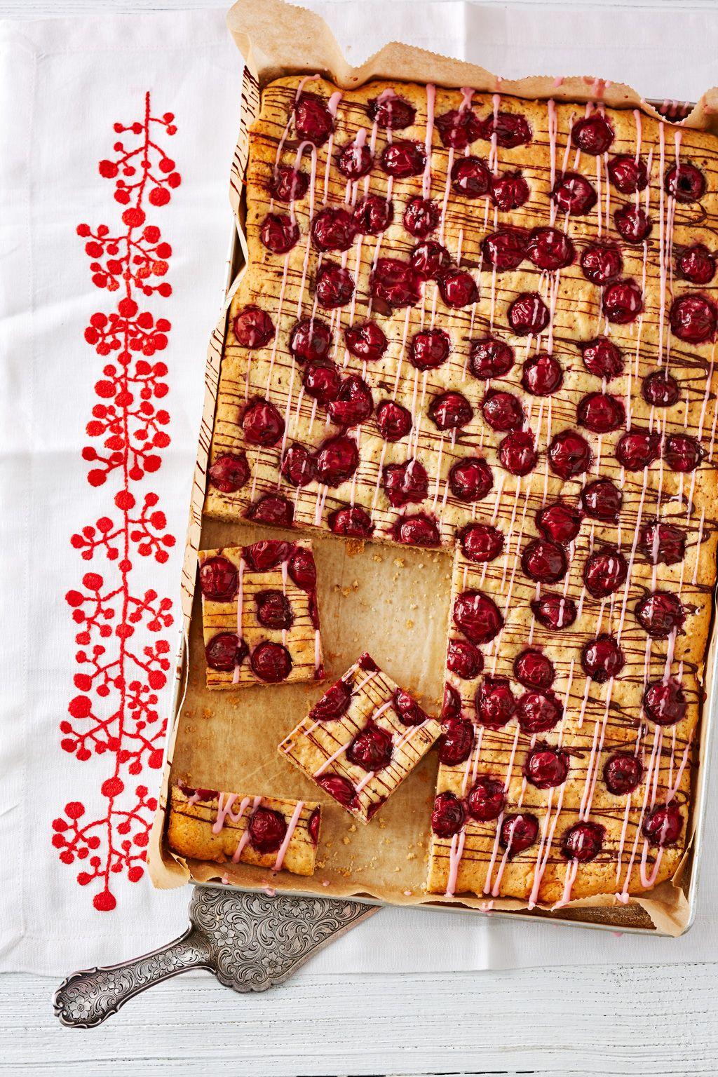 Schneller Schoko Kirsch Kuchen Schoko Kirsch Blechkuchen