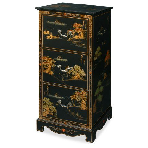 Exceptionnel SAVE $200   #Chinoiserie Scenery Design 3 Drawer File Cabinet $599.00