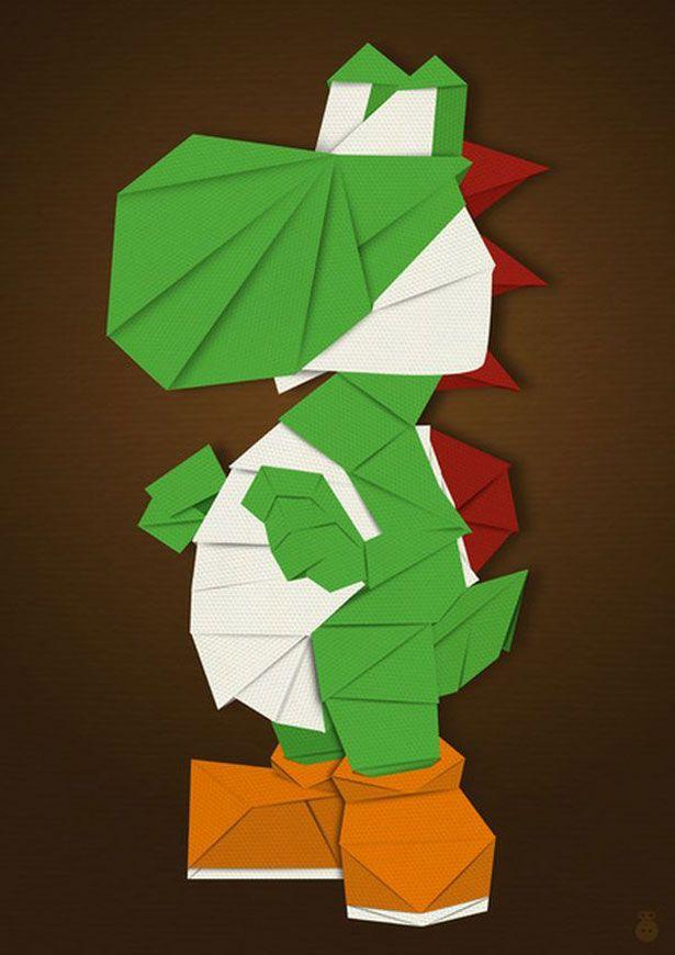 Personajes De Videojuegos En Origami Nerd Stuff Pinterest