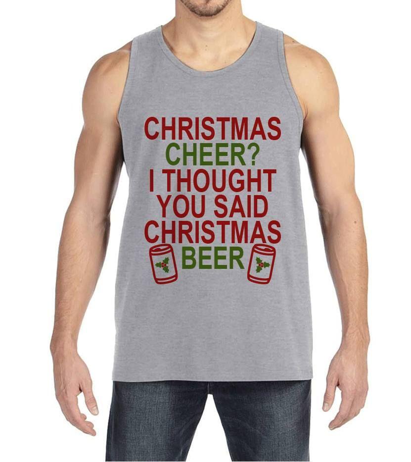 67ea60cf9 Men's Christmas Shirt - Christmas Beer Shirt - Funny Christmas Present for  Him - Holiday Drinking