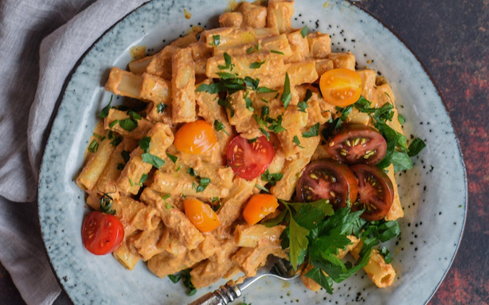 Creamy Roasted Red Pepper And Mushroom Sauce Vegan Gluten Free
