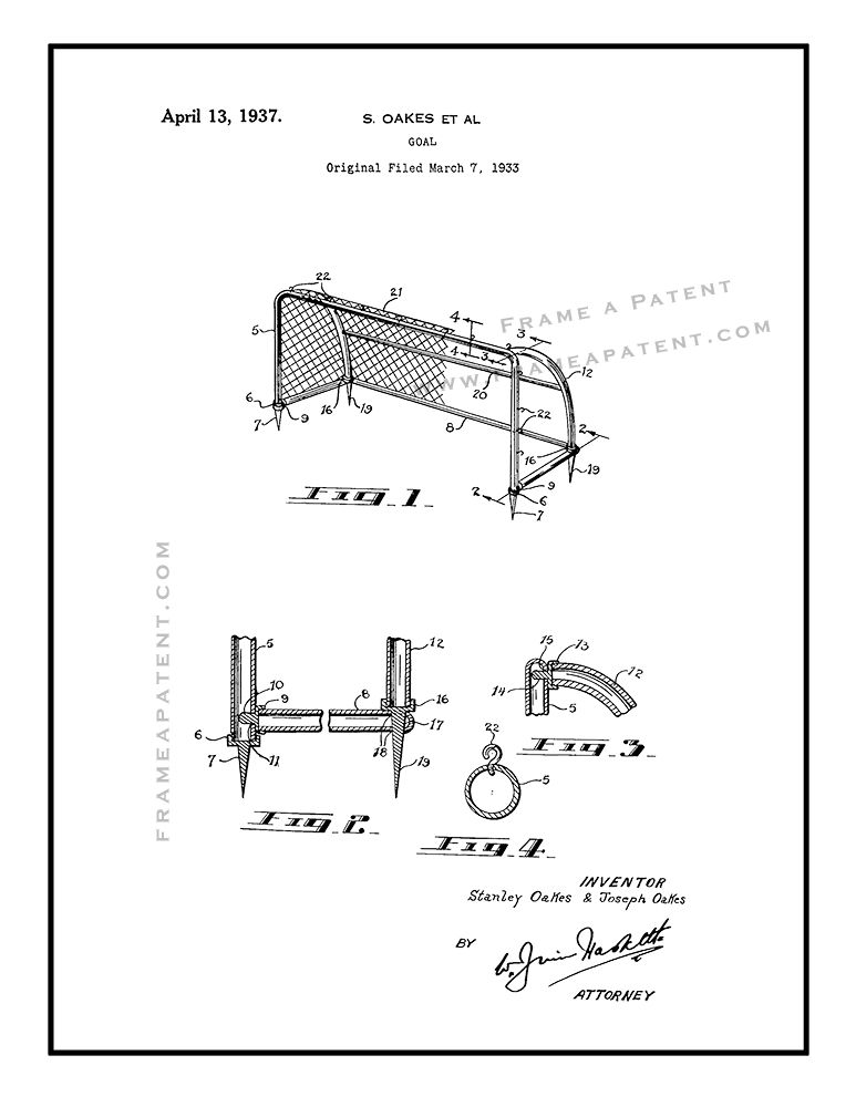 Pin By Frame A Patent On Soccer Patent Prints