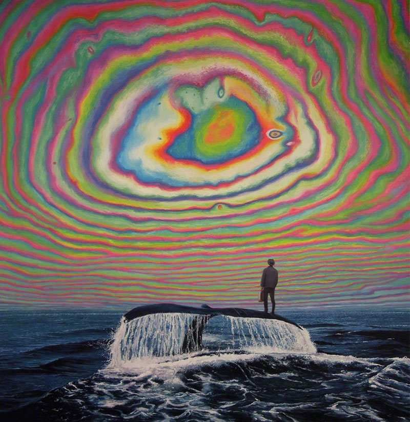 Surreal Psychedelic Art (Scratchboard, Oil Painting)