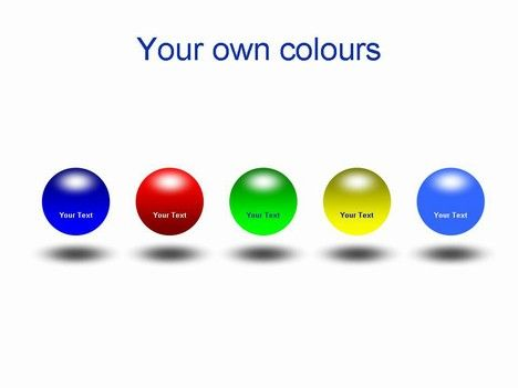 D Spheres In Powerpoint Powerpoint Template  Publisher