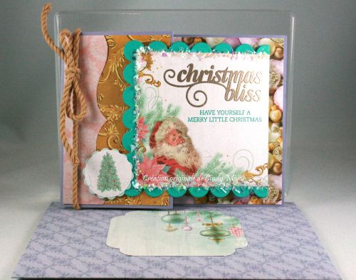 Christmas Bliss stamp set from Stampin' Up! and Christmas Wishes papers from Kaiser Craft - Joy Fold Card designed by Cindy Major